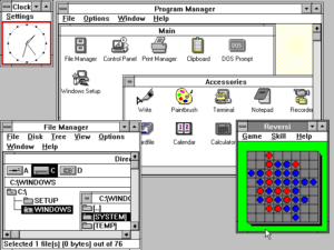 Microsoft Windows 3.0. Used with permission from Microsoft.