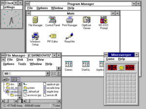 Microsoft Windows 3.1. Used with permission from Microsoft.