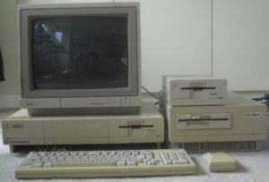 Amiga 1000 with A1060 PC XT sidecar