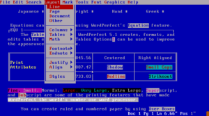 WordPerfect for PC