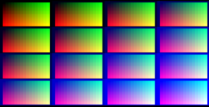 All 4096 colours shown at once.