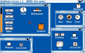 Amiga Workbench 1.1 Disk contents.